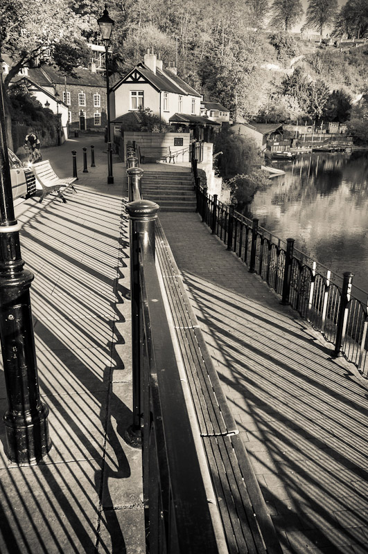 A view of the walkways by the river Nidd