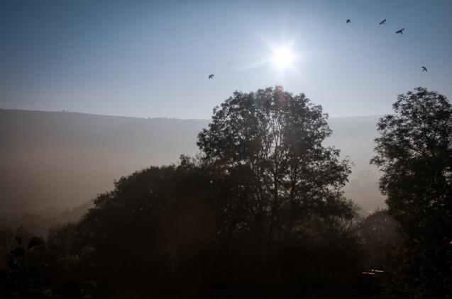 Mist rolling up Nidderdale