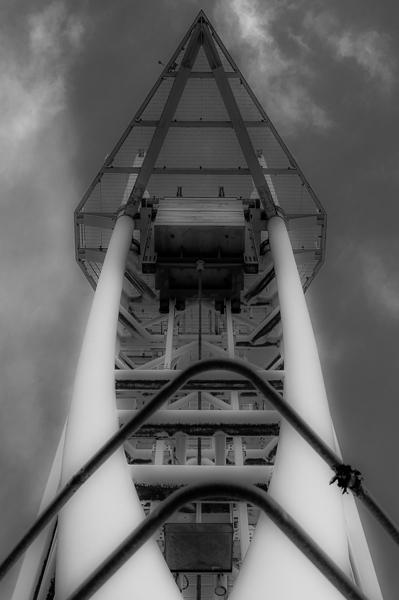 Salford Quays bridge hoist.
