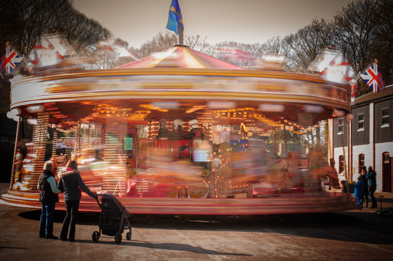 Fairground rise showing movement in still photo.