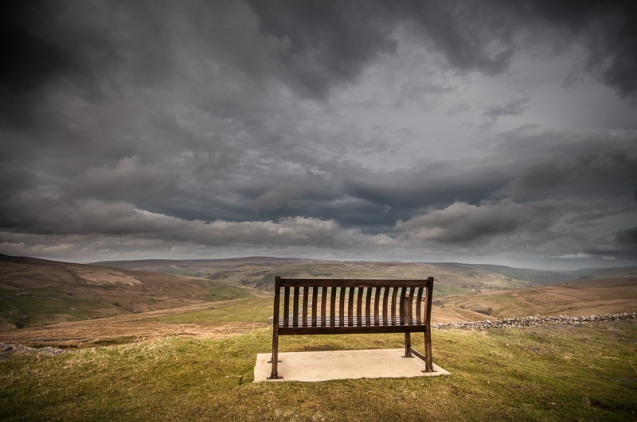 A bench with a view over Swaledale