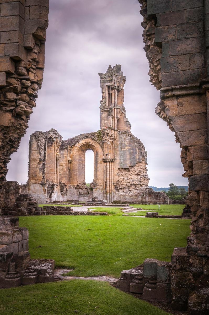 Byland Abbey through a wall!