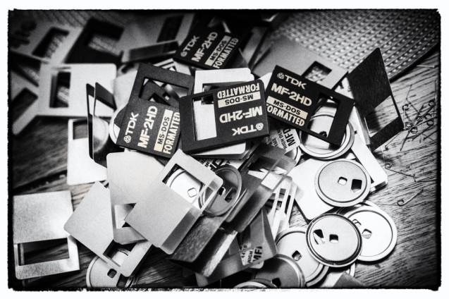 Recycled Floppys