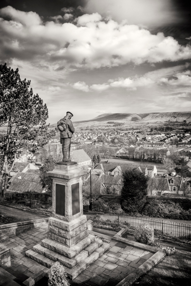 A view of Clitheroe from the castle.
