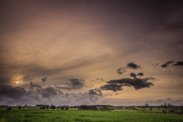 A Nidderdale Evening Sky.