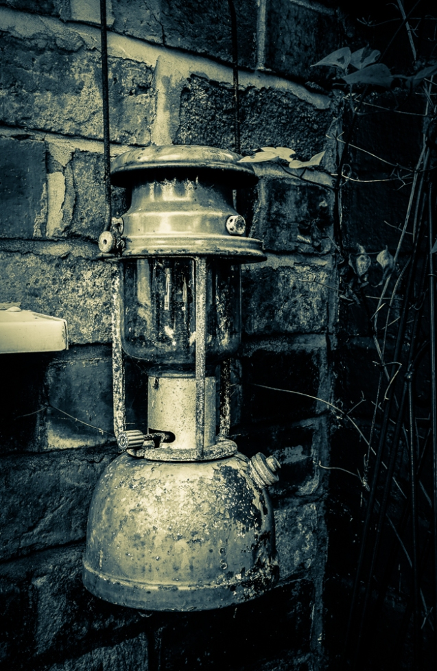 A rusty lamp