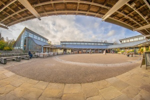Fisheye view at the visitor centre